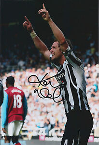 Kevin-NOLAN-SIGNED-COA-Autograph-12x8-Photo-AFTAL-Newcastle-United-Captain-RARE