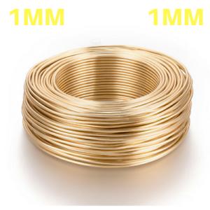 1mm-14K-GOLD-PLATED-Aluminium-Craft-Florist-Wire-Jewellery-Making-10m-length