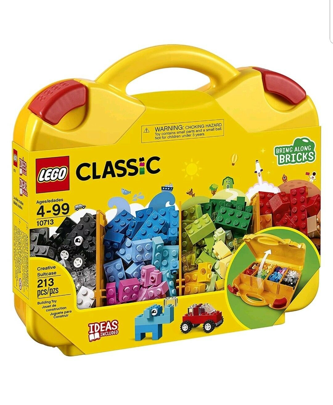 LEGO LEGO LEGO 10713 CLASSIC CREATIVE SUITCASE 213pcs Beginner Building Kit Toy Lots 3 46af61