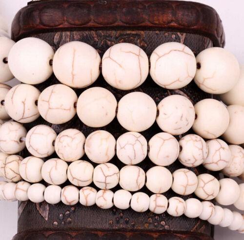 200Pcs nacres turquoise Gemstone Round Spacer Loose Beads Bijoux 4 6 8 10 mm