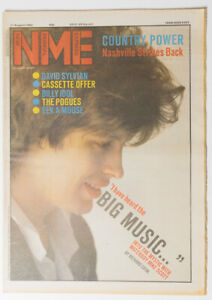 NME magazine 11 August 1984 THE WATERBOYS Mike Scott Billy Idol Pogues