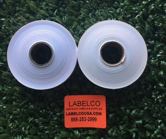 1136 Green Monarch labels 14,000 two line labels 8 rolls