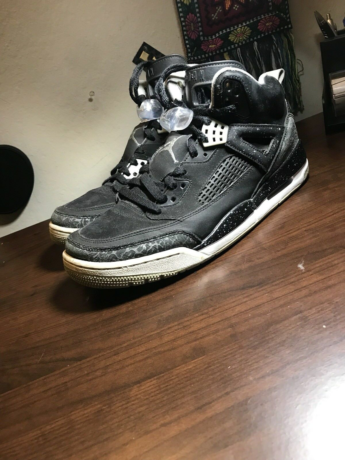 Jordans Spizike Men's 315371-004 Cool Grey Black white size 10