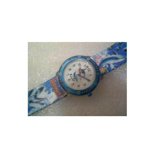 Genuine  SCOUT Girls Blue Paradise Stainless Steel Dolphin watch 280378056 £38