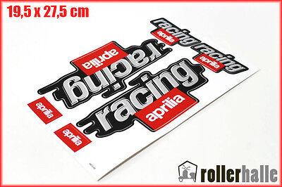 Neu! Aufkleber Satz Sticker Set RACING Aprilia SR 50 RS RSV 125 Roller #9
