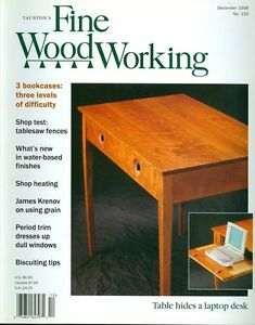 1998 Fine Woodworking Magazine 3 Bookcases Tablesaw Fences Water
