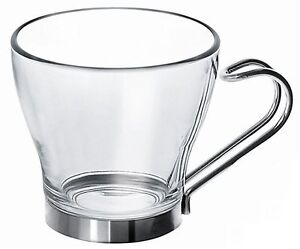 Etonnant Image Is Loading Set Of 3 Metal Handle Glass Espresso Cups