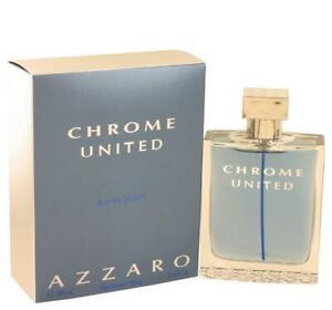 CHROME UNITED Azzaro cologne Men edt 3.4 oz 3.3 NEW IN BOX