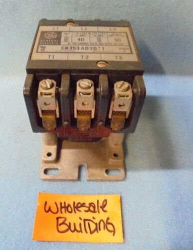 GE GENERAL ELECTRIC CONTACTOR CR353AD3D*1 SER A 1 OR 3 PHASE 2 OR 3 POLE 600 V