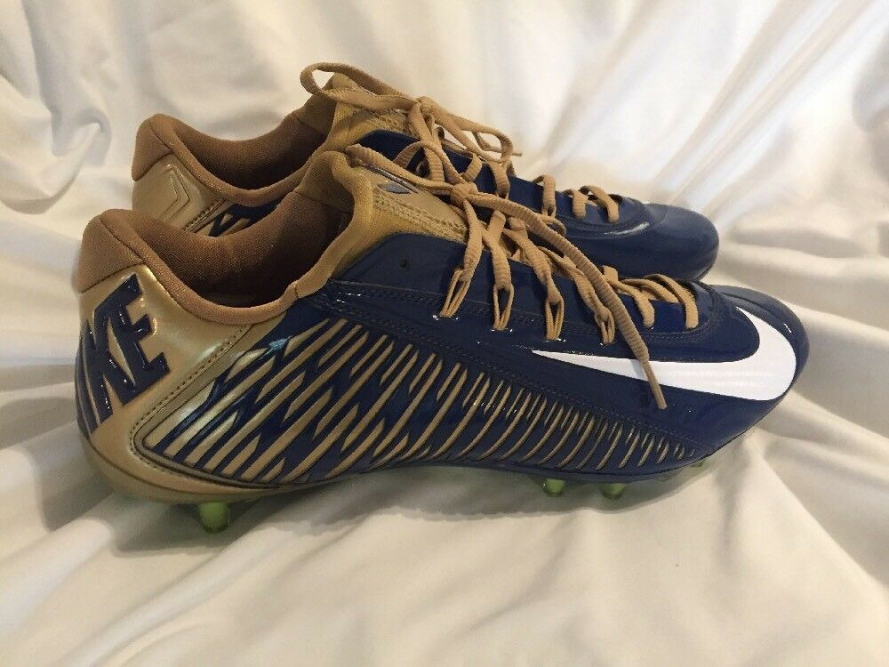 Nike VAPOR CARBON 2.0 ELITE Football Cleats Navy Gold 657441 426 Mens Comfortable Cheap and beautiful fashion