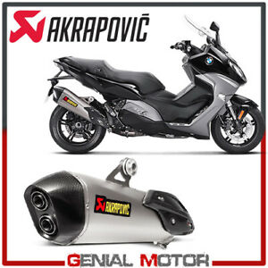Details About Exhaust Titanium Approved Muffler Akrapovic For Bmw C650 Sport 2016 2019
