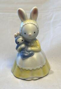 Vintage Takahashi Bell Bunny Rabbit With Baby Boy Bunny.