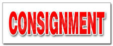 Consignment Decal Sticker Second Hand Name Brands Clothes Furniture Store