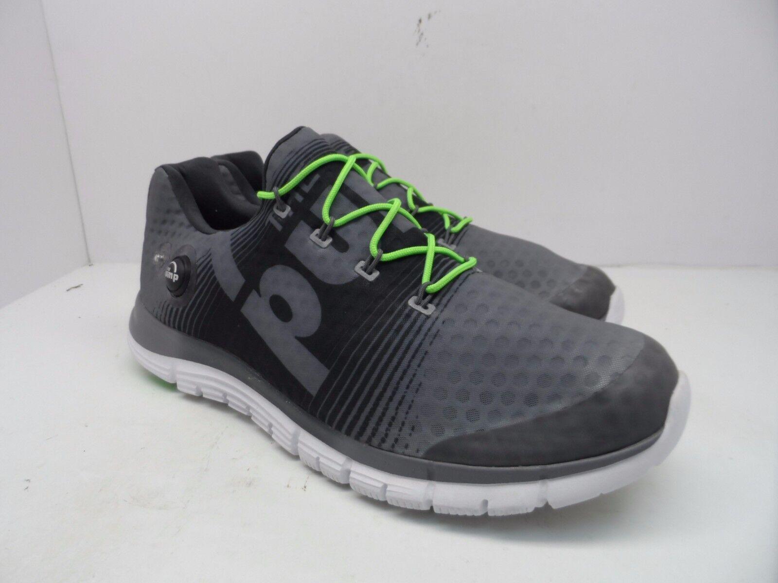 La reebok uomini z-pump fusione scarpa da corsa, squalo verde / / verde bianco / ghiaia / solare misura 12,5 9b7ad4