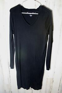 Territory-Ahead-Small-Black-Cotton-Long-Sleeve-Women-039-s-Dress
