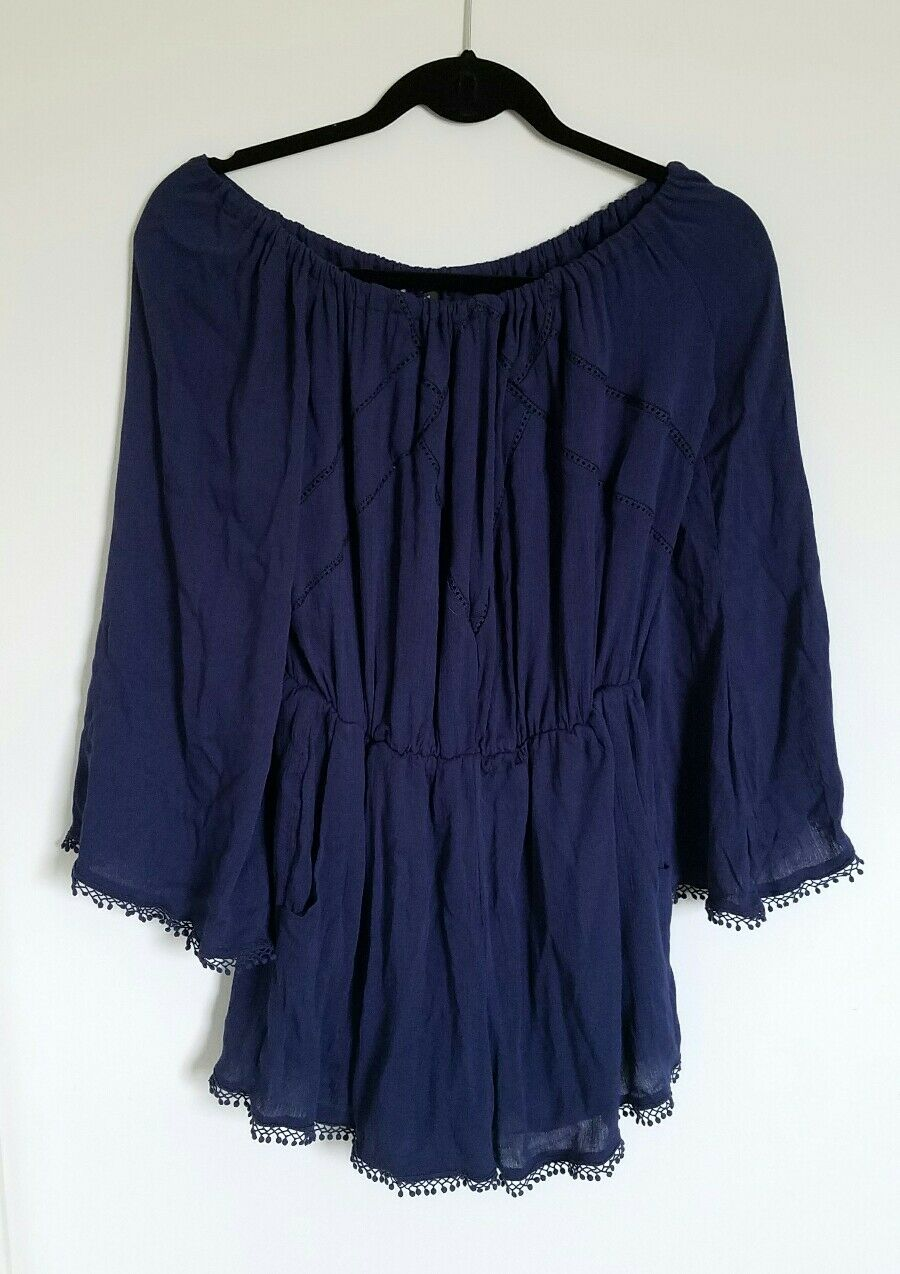 Romeo And Juliet Couture Navy bluee Shorts Romper