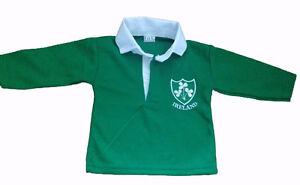 5209258c0 Image is loading IRELAND-IRISH-RUGBY-SHIRT-BABY-BABIES-KIDS-CHILDS-