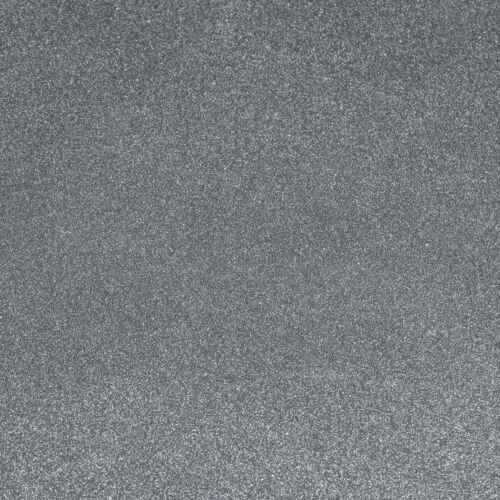 Transparente Folie Tischdecke 0,22 mm Glitter Glitzer Silber Größe wählbar