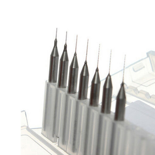7 Sizes 0.2mm to 0.5mm Nozzle Cleaning Drill Bits for Reprap 3D Printer Kit B2AE