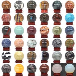 Wholesale-40MM-Natural-Gemstone-Sphere-Crystal-Reiki-Healing-Globe-Ball-Stand