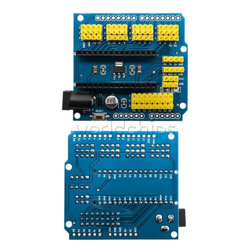 2PCS Nano I//O Expansion Sensor Shield Extension Board for Arduino UNO R1 Nano3.0