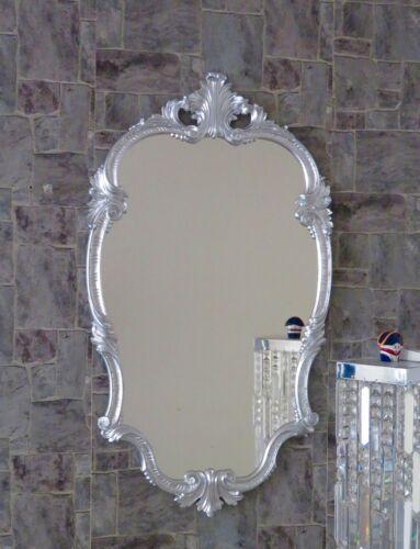 WANDSPIEGEL Barock Silber Oval 99x55 Antik Spiegel Barock Friseurspiegel C410