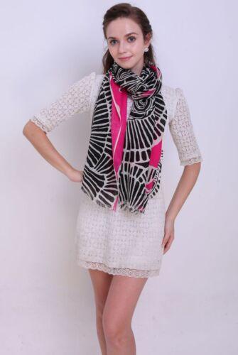 100/% Pura Lana Donna Sciarpa Pashmina Soft Wrap in Giallo Rosa E Arancione Colore