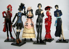 Black Butler Kuroshitsuji Ciel Japan Anime figures figurines 6 pcs set new