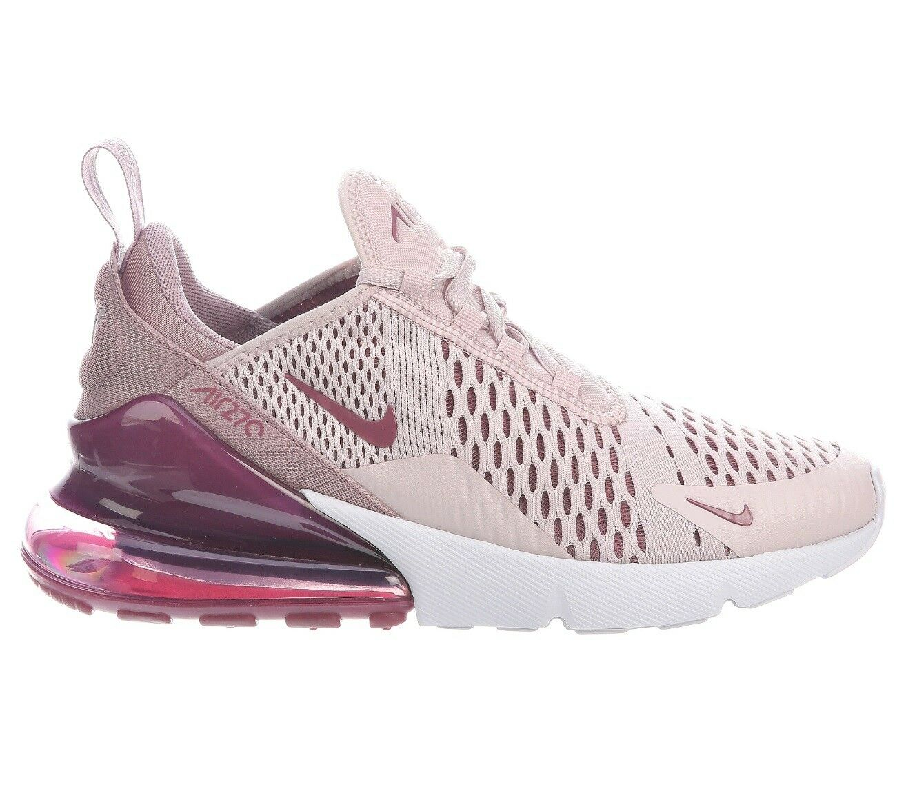 Nike Air Max 270 Womens AH6789-601 Barely Rose Pink Wine Running Shoes Size 8.5