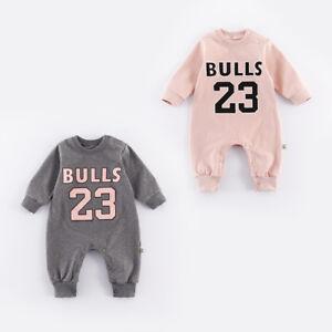 b036b6c3007 2018 BABY BULLS JORDAN 23 ROMPER NEWBORN GIRL TODDER BABYGROW ...