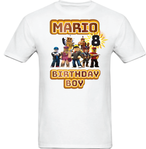 How To Make Custom Shirts In Roblox Roblox Family Birthday T Shirt Roblox Custom Personalized Birthday Shirt Ebay