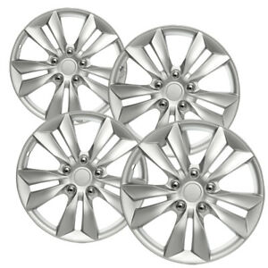 Image is loading 4pc-Hubcaps-Fits-2006-2014-Hyundai-Sonata-16-