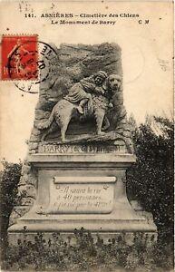CPA-Asnieres-Cimetiere-des-Chiens-Le-Monument-de-Barry-581318