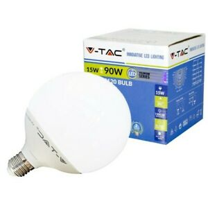 Copieux V-tac Lampada Led E27 Globo G120 15w=90w Luce Calda-naturale-fredda Sku 4385-... 50% De RéDuction