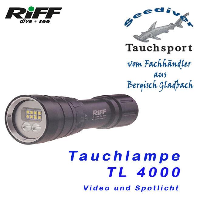 RIFF TL-4000 TL-4000 TL-4000 Video und Spotlicht  NEU 4930b4