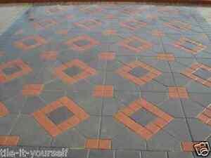 Details About Set Of 4 Concrete Garden Mould Paving Driveway Pathmaker Interlocking Floor Tile