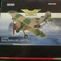 Corgi Aviation Archive-aa36205 Gloster Gladiator Raf 80 Sqn Sidi Barrani 1940