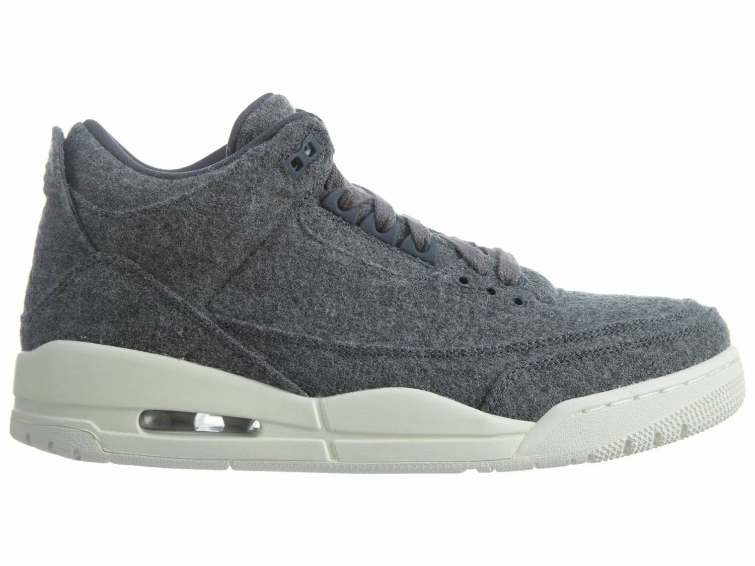 Air Jordan III 3 Retro Wool Mens 854263-004 Dark Grey Basketball Shoes Size 10