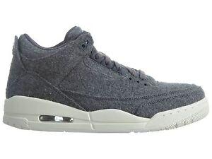 11d32b6c59e Air Jordan III 3 Retro Wool Mens 854263-004 Dark Grey Basketball ...