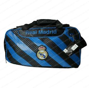 cb0325e0c80f Real Madrid Soccer Duffel Gym Holdall Bag Black Blue Team Gear ...
