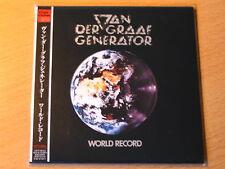 "VAN DER GRAAF GENERATOR ""World Record"" Japan mini LP CD"