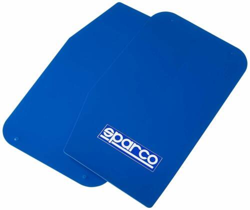 SPARCO 03791AZ coche MUD FLAPS par Universal Azul con logotipo