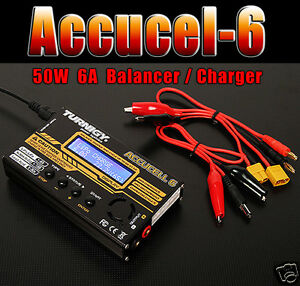 Turnigy-Accucel-6-50W-6A-Balancer-Charger-with-option-of-Power-Supply-UK-STOCK
