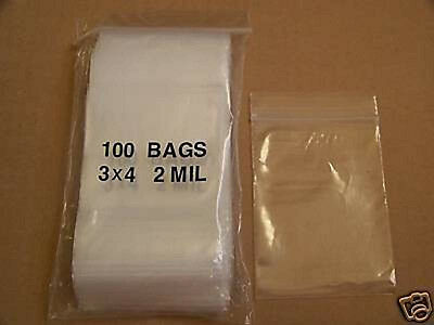 100 PCS Aspire 5 Mil Durable PVC Zip Pouch for Crafts//Jewelry//Gifts Packaging-3 x 4 3//4 inch