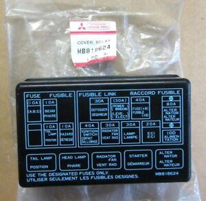 1993 1994 1995 1996 Dodge Colt fuse box cover MB818624 NOS, OEM Mitsubishi  | eBay eBay
