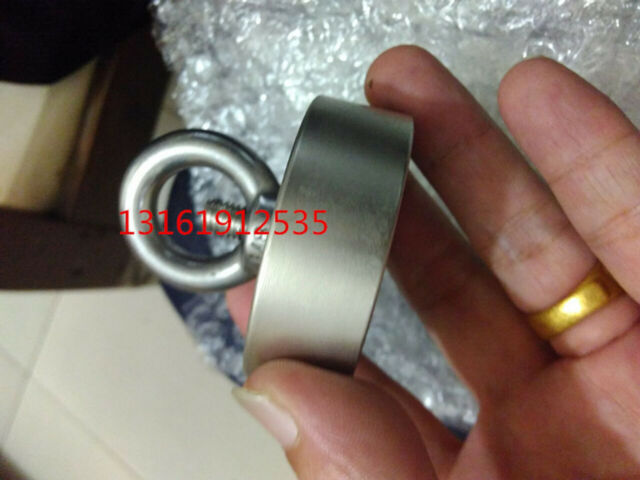 112KG Recovery Super Strong Neodymium Magnet Fishing Diving Flying Ring