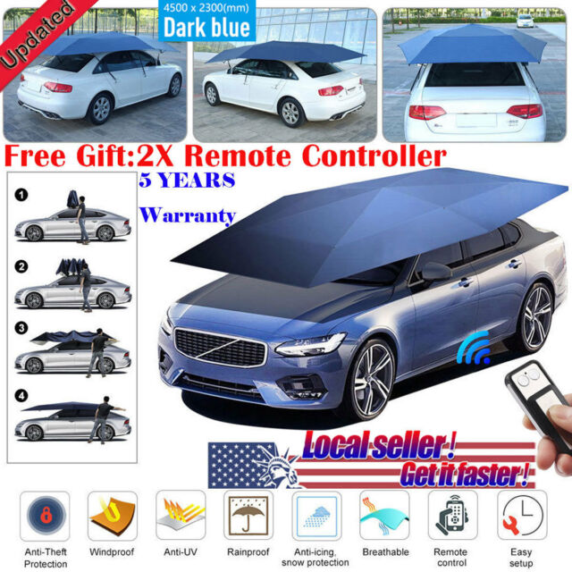 Full Auto Portable Remote Car Tent Umbrella Roof Cover Uv Protection