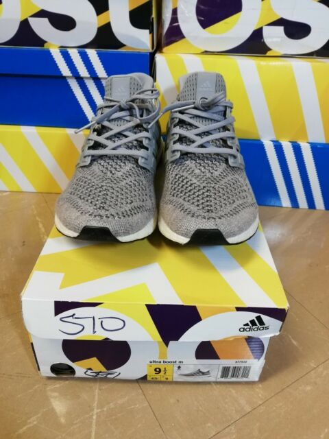 496e56c3410 Adidas Ultra Boost 1.0 Wool Grey Mens Us Size 9.5 100% Authentic Released  2015