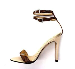 Morgan-De-Toi-Womens-UK-5-EU-38-Garter-Beige-Leather-High-Heel-Strappy-Sandals