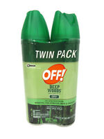 Off Deep Woods Insect Repellent Dry West Nile Virus Protection Twin Pack 4oz Ea